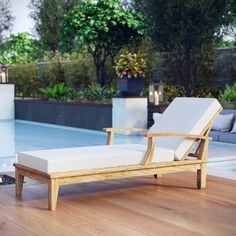 Looking for Modway Marina Premium Grade A Teak Wood Outdoor Patio Chaise Lounge Chair Natural White ? Check out our picks for the Modway Marina Premium Grade A Teak Wood Outdoor Patio Chaise Lounge Chair Natural White from the popular stores - all in one. Chaise Lounges, Patio Chaise Lounge, Pool Lounge Chairs, Swing Chairs, Lounge Areas, Pool Patio Furniture, Outdoor Furniture, Furniture Nyc, Poolside Furniture