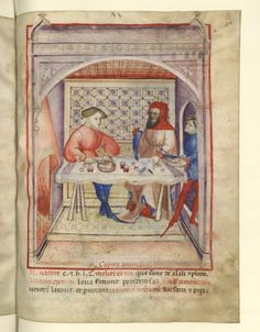 Nouvelle acquisition latine 1673, fol. 73, Aliment: tête. Tacuinum sanitatis, Milano or Pavie (Italy), 1390-1400.