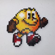 Pac-Man Perler Art by kamikazekeeg on deviantART