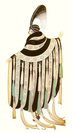 Erte ~ Art Deco Great Gatsby fashion
