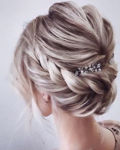 Beautiful wedding hairstyles for the elegant bride Updos for the . - Beautiful wedding hairstyles for the elegant bride Updo for the bride … – Hair and beauty - Romantic Hairstyles, Braided Hairstyles Updo, Wedding Hairstyles For Long Hair, Wedding Hair And Makeup, Braided Updo, Twisted Updo, Wedding Hair With Veil Updo, Chignon Hairstyle, Gorgeous Hairstyles