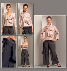 Issey Miyake vogue patterns.  Lengthen bodice and sleeves.  Use denim fabric