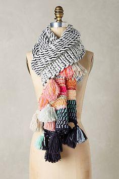 Rainbow Tassel Scarf // comfy + cozy + colorful