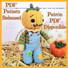 """♡Poly♡ en Instagram: """"(ENG⬇️) 🎃🍁El patrón de Billy, el muñeco calabaza, ya está disponible en mi tienda (link en bio) . Hilado: Algodón 8/6 de @moussalanas . . …"""" Amigurumi Doll, Crochet Hats, Teddy Bear, Dolls, Link, Animals, Instagram, Spinning, Pumpkins"""