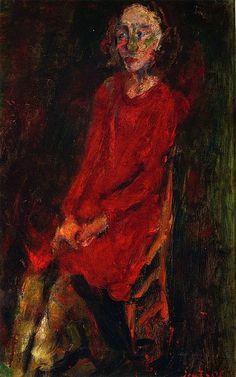 Young Woman in Red Chaim Soutine - circa 1929 ~Repinned Via John McIntosh