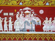 Art inside Temple of the Tooth Relic, Kandy, Sri Lanka
