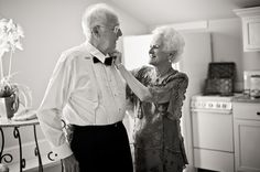 Beautiful black and white moment of grandparents captured by top Florida wedding photographer Dana Goodson!
