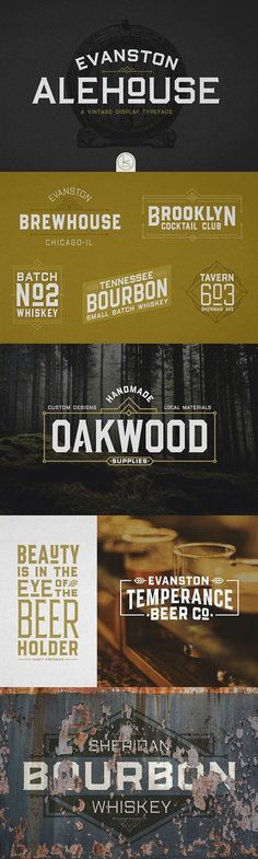 Evanston Alehouse Font 80% OFF by Kimmy Design on @creativemarket