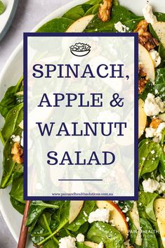 Spinach, Apple Walnut Salad Savour seriously savvy and tasty salads with all the flavours you love and the convenience you need. If you're looking for a simple, green salad to pair with your meal, then these low calorie… Low Calorie Salad, No Calorie Foods, Anti Oxidant Foods, Anti Inflammatory Recipes, Eating Once A Day, Apple Walnut Salad, Apple Salad, 100 Calories