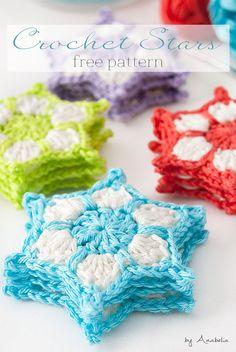 Free crochet pattern star garland Anabelia 2015 by Craft Design
