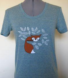 Baby Fox Women's Shirt by limeyts on Etsy, $20.00