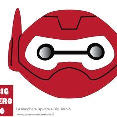Baymax mask - Big Hero 6 - free printable Baymax, Big Hero 6, Isaiah 7, Face Template, Fiesta Party, Superhero Party, 3rd Birthday, Party Planning, Spiderman