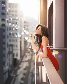 Girl Drawing Sketches, Cute Girl Drawing, Girly Drawings, Beautiful Girl Drawing, Alone Art, Pinturas Disney, Cute Cartoon Girl, Cartoon Cartoon, Cute Girl Wallpaper