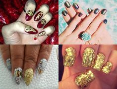 Funky celeb nails:  Nails have become works of art on the red carpet. Check out our favourite celeb nail art designs