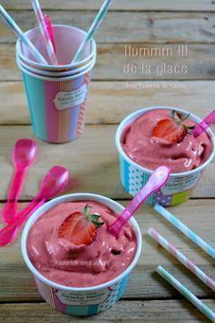 Dégustation glace italienne - Recette glace fraise crème amande chez Kaderick en Kuizinn