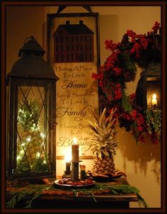 Fill a lantern with Christmas lights, how pretty!