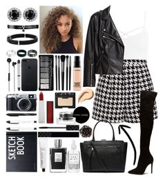 """""""//Black & White//"""" by kcliffxx on Polyvore featuring Sans Souci, Emma Cook, H&M, Witchery, Illamasqua, MAC Cosmetics, Maybelline, NARS Cosmetics, Bobbi Brown Cosmetics and Gucci"""