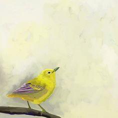Yellow Bird On Branch