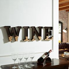 Shop for Danya B Metal Wall Mount 'Wine' Letters Cork Holder. Get free shipping at Overstock.com - Your Online Home Decor Outlet Store! Get 5% in rewards with Club O!