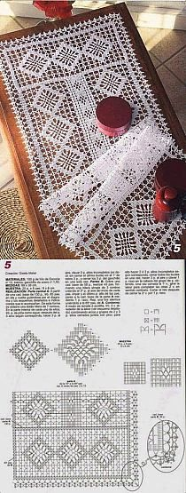 Crochet Stiches, Patterns And Projects Free Crochet Doily Patterns, Filet Crochet Charts, Crochet Diagram, Crochet Squares, Crochet Motif, Crochet Designs, Crochet Doilies, Crochet Bedspread, Crochet Curtains