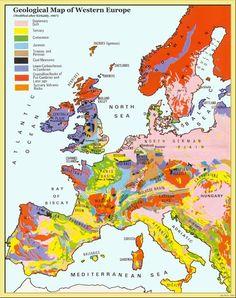 Western Europe Geology Map - Western Europe • mappery