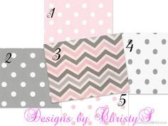 Build Your Pink and Gray Bumper by DesignsbyChristyS on Etsy, $100.00