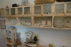 Casa e Reforma: Cozinha Rustica feita de caixotes de feira