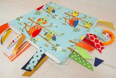 Fleece Baby Blanket - Gender Neutral Touch and Feel - Owls on a Limb