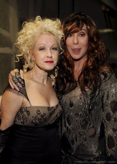 Cyndi Lauper and Cher. Saw both together in concert last night and HOLY SHIT. POWERHOUSES!!