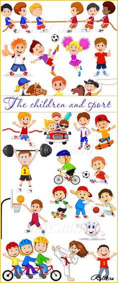 Дети и спорт векторный клипарт - футбол, карате, баскетбол, бег. Children and… Sports Drawings, Kindergarten Art, Baby Learning, Cute Animal Drawings, Stick Figures, Creative Teaching, Sports Art, Cartoon Kids, Kids Education