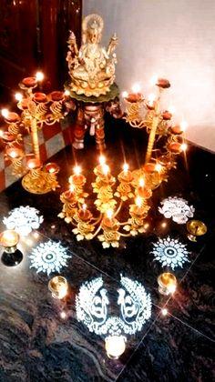 Diya Decoration Ideas, Diy Diwali Decorations, Festival Decorations, Mandir Decoration, Decor Ideas, Diy Ideas, Ethnic Home Decor, Indian Home Decor, Indian Diy