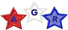 Star Applique Monogram - 3 Sizes! | Alphabets | Machine Embroidery Designs | SWAKembroidery.com Abigail Michelle