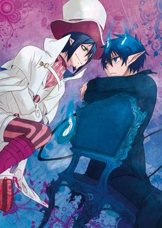Blue Exorcist ~~ Face Off! :: Mephisto VS Rin Okumura