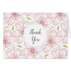 Pink Watercolor Azaleas Wedding Card - flowers floral flower design unique style