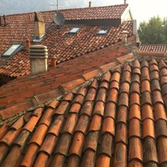 Tiled roofs Italy Ceramic Roof Tiles, Architect Drawing, Tuile, Italy Travel, Decoration, Rooftops, Jerusalem, The Originals, Wood