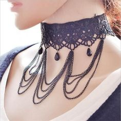 Item Type: Necklaces Fine or Fashion: Fashion Pendant Size: see detai Style: Trendy Necklace Type: Chains Necklaces Gender: Women Material: Lace Chain Type: Link Chain Length: 20-50cm Metals Type: Zin