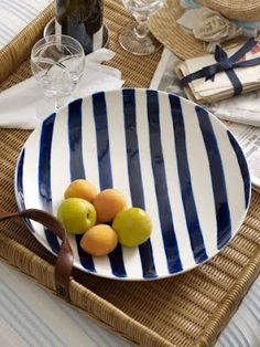 Nautical stripes on Jacqueline bowl from RL