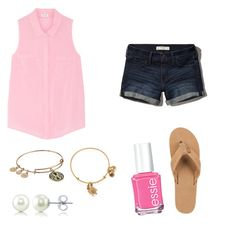Summer by lillypulitzera on Polyvore featuring polyvore, fashion, style, Splendid, Abercrombie & Fitch, Rainbow, BERRICLE, Alex and Ani, Essie and clothing