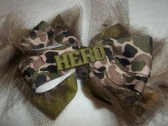 New- HERO Military Hairbow Clip on Etsy, $5.99