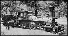"""On April 12, 1862, a band of raiders under the command of James J. Andrews stole the Western & Atlantic Railroad locomotive """"General"""" at Big Shanty, now Kennesaw, Georgia. Andrews and his men intended to race north to safety while burning railroad bridges along the way. They didn't make it. This is the Texas, one of the locomotives that chased The General."""