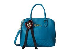 Betsey Johnson Quilty Pleasure Satchel Teal - Zappos.com Free Shipping BOTH Ways