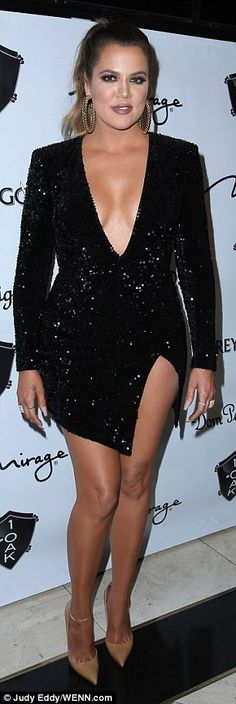 Khloe Kardashian in Michael Costello in Las Vegas