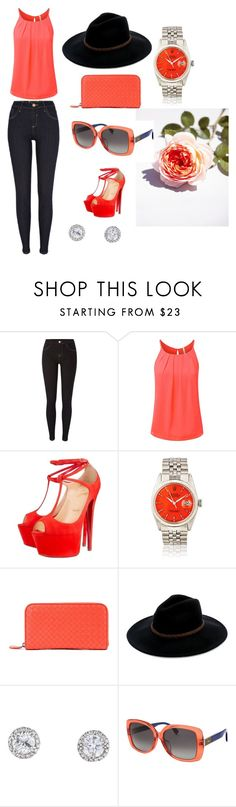 """10"" by divinas40 on Polyvore featuring moda, River Island, Christian Louboutin, Bottega Veneta, Billabong y Fendi"