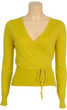 Vintage inspired summer wrap cardi in yellow - King Louie SS2014