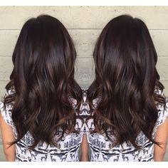 Image result for subtle balayage dark hair
