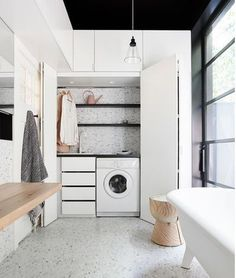 clever - hiding the laundry in your bathroom #mymerlyn #shower #instabathroom #architecture #design #interiordesign #instarchitecture #inspiration #lux #decor #details #architecture #archilovers #interiordesigntoday #styling #BHGHome #instagood #bathroom #bathrooms #designinspiration #bathroomdesign #bathroomremodel #homedecor #interiorinspo #housebeautiful #neutraldecor #instadecor