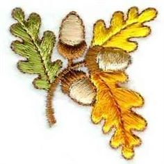 Oak Branch embroidery design from embroiderydesigns.com