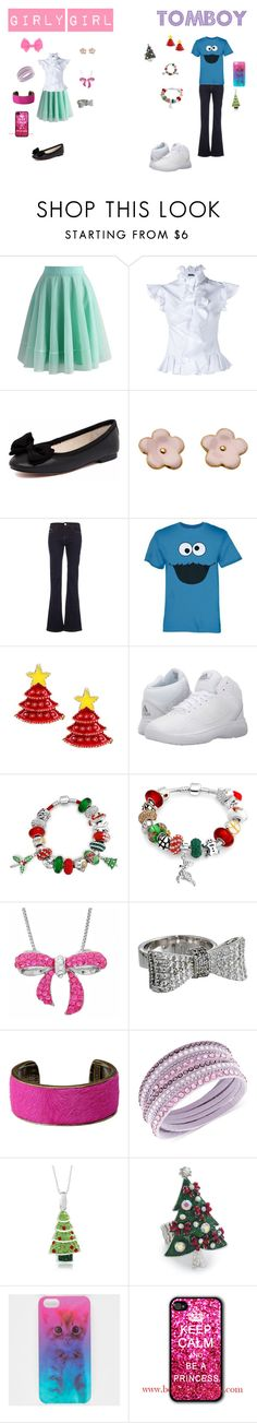 """""""Girly Girl vs. Tomboy: Junior year Edition"""" by sierra-ivy on Polyvore featuring Chicwish, Alexander McQueen, Human Premium, Morgan, Sesame Street, adidas, Bling Jewelry, Amanda Rose Collection, King Baby Studio and Isabel Marant"""