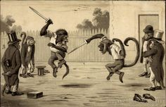 Monkey's dueling Maurice Boulanger Monkeys