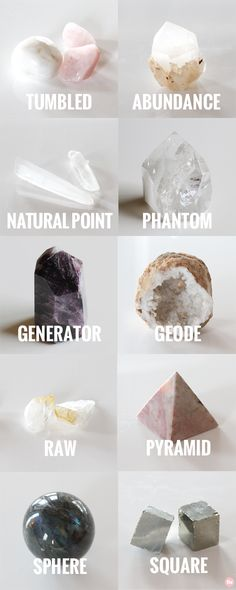10 Different Crystal Shapes and how you can use them